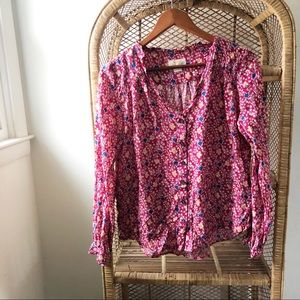 Anthropologie Maeve Star Print Pink Blouse✨
